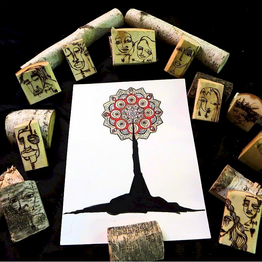 Tree of Life with wood series